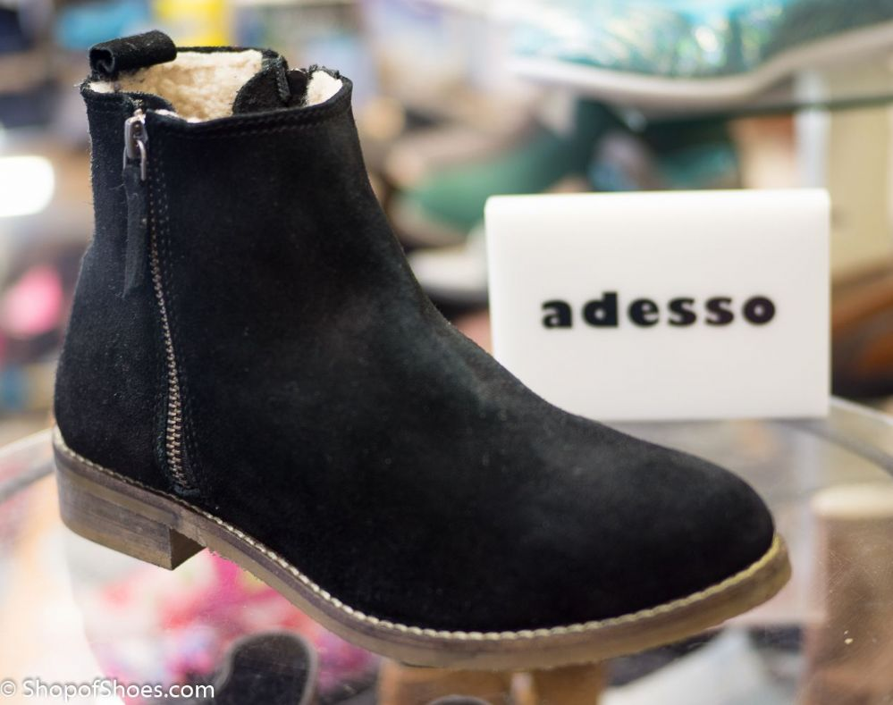Adesso Antique Black Warm Lined Soft Leather Winter Boot